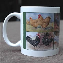 Vintage Chicken Mug