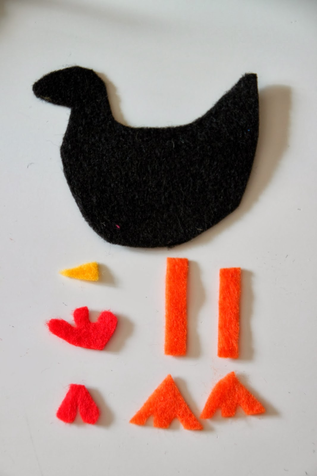 Chicken christmas ornaments - Cut Out Your Chicken Pieces And Two Circles Of Felt For The Base